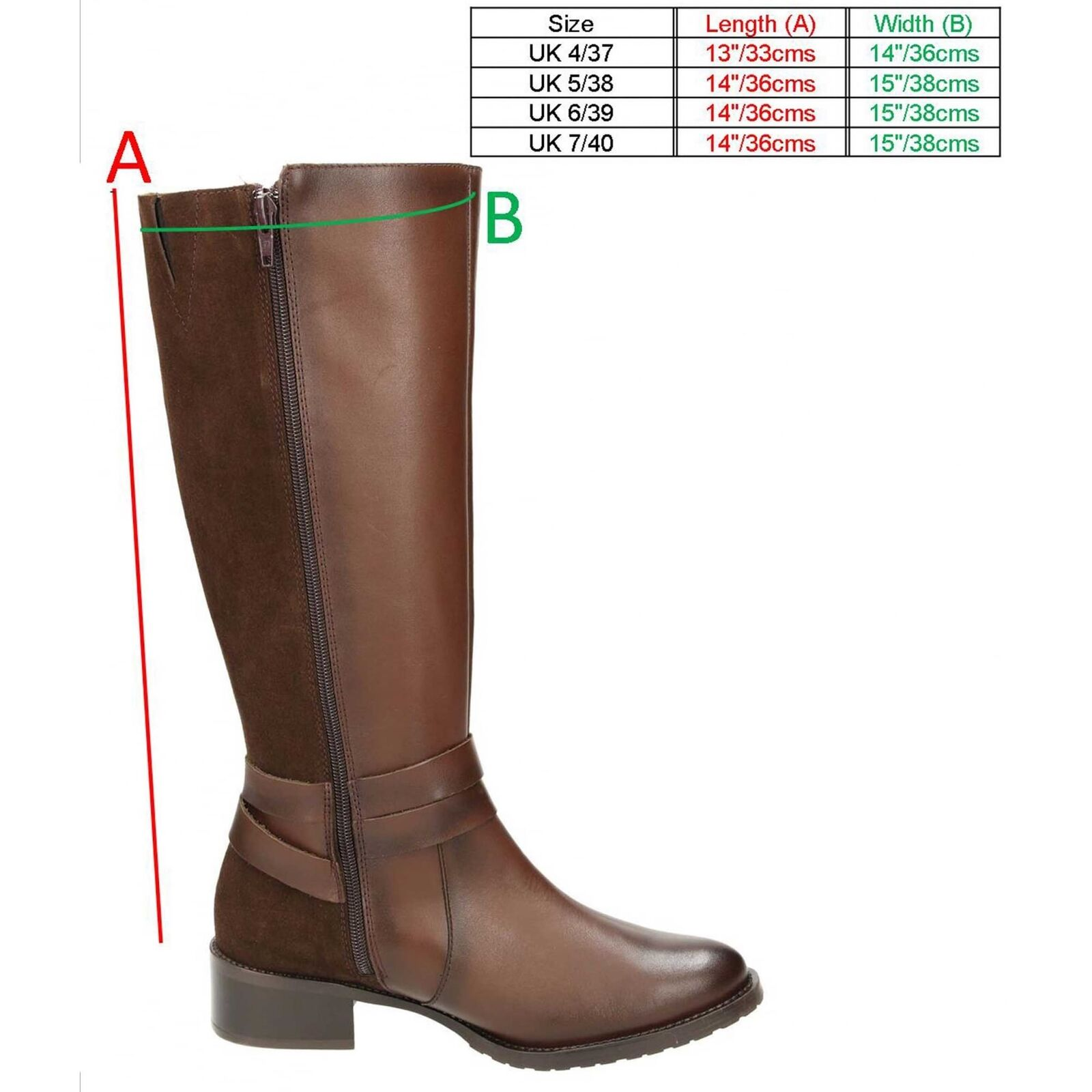 Carmela Suede Leather Flat Knee Riding High Boots Style Low Heel High Riding Shoes f86096