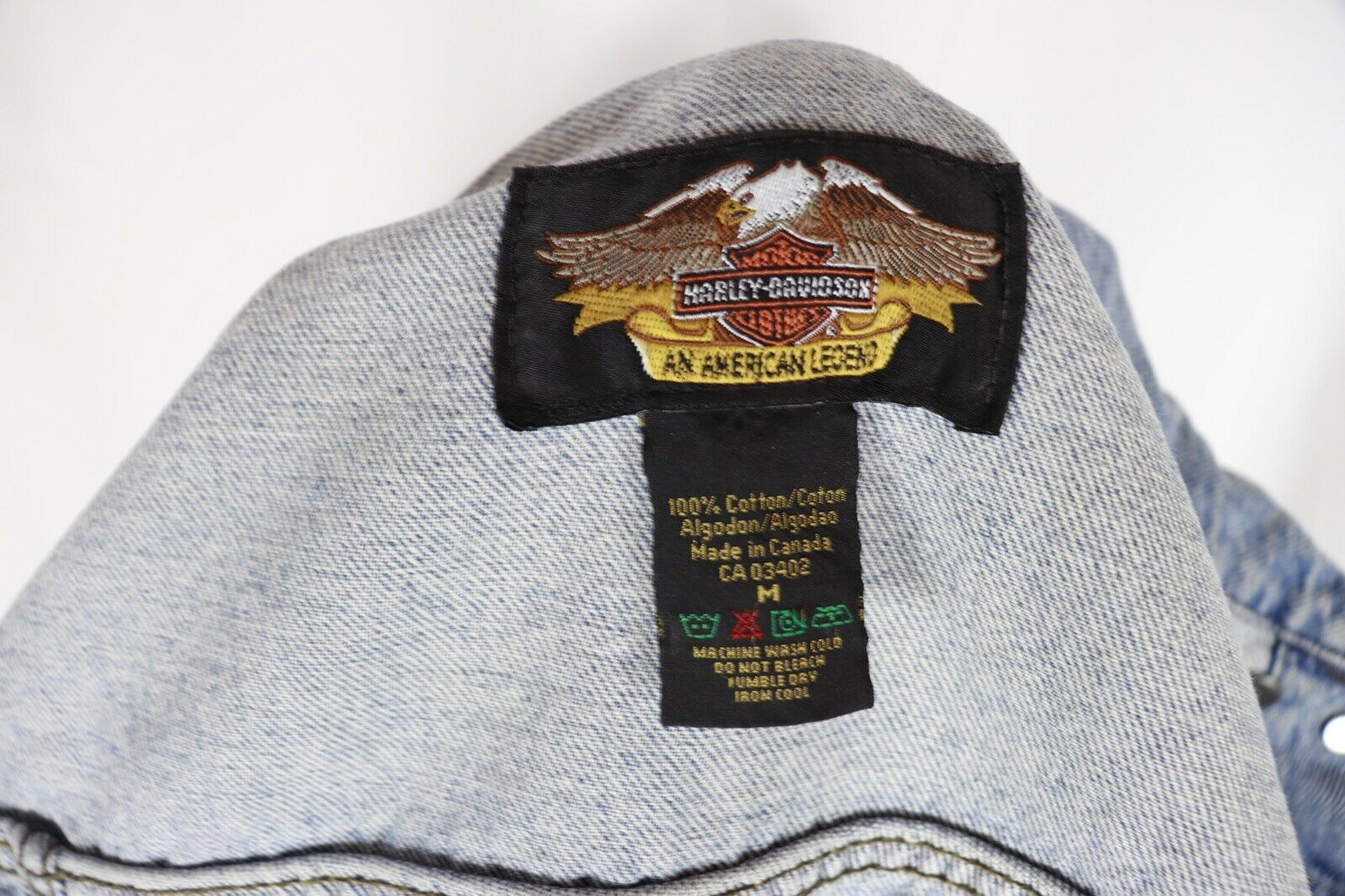 Harley Davidson Womens Womens Womens Jeans Vest With Patches Medium e0ed96