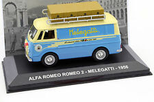 Alfa Romeo 2 Melegatti Baujahr 1956 blau / beige 1:43 Altaya