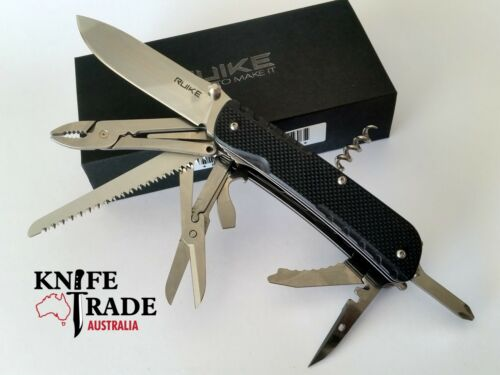Ruike LD51B Trecker Folding Multi Tool Pocket Knife G10 Sandvik 12C27 Blade EDC