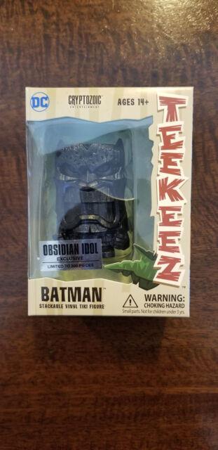 2018 SDCC COMIC CON EXCLUSIVE CRYPTOZOIC TEEKEEZ DC BATMAN OBSIDIAN IDOL LE /300