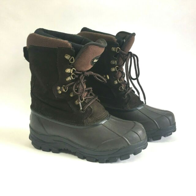 Mens Lacrosse Brown Thinsulate Steel Shank Lace up Duck BOOTS Size 14 298340