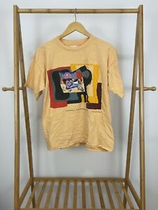 RARE-VTG-90s-Salvador-Dali-Still-Life-By-Mauve-Moonlight-T-Shirt-Size-L-Spain