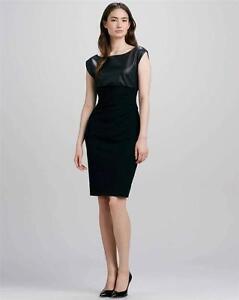 Image Is Loading Dvf Diane Von Furstenberg Jori Black Leather Knit