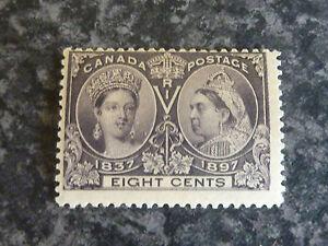CANADA-POSTAGE-STAMP-SG130-8C-SLATE-VIOLET-JUBILEE-1897-FLMM