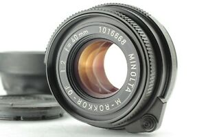 EXC-5-Minolta-M-rokkor-40mm-F-2-For-CLE-CL-Film-Camra-Leica-M-Mount-From-JAPAN