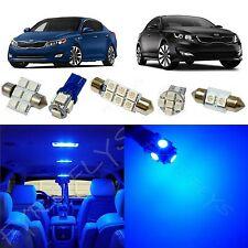 9x Blue LED lights interior package kit for 2011-2016 Kia Optima KO1B