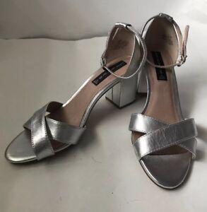 2269bda01cf Image is loading STEVEN-Steve-Madden-Voomme-Dress-Sandals-silver-leather-