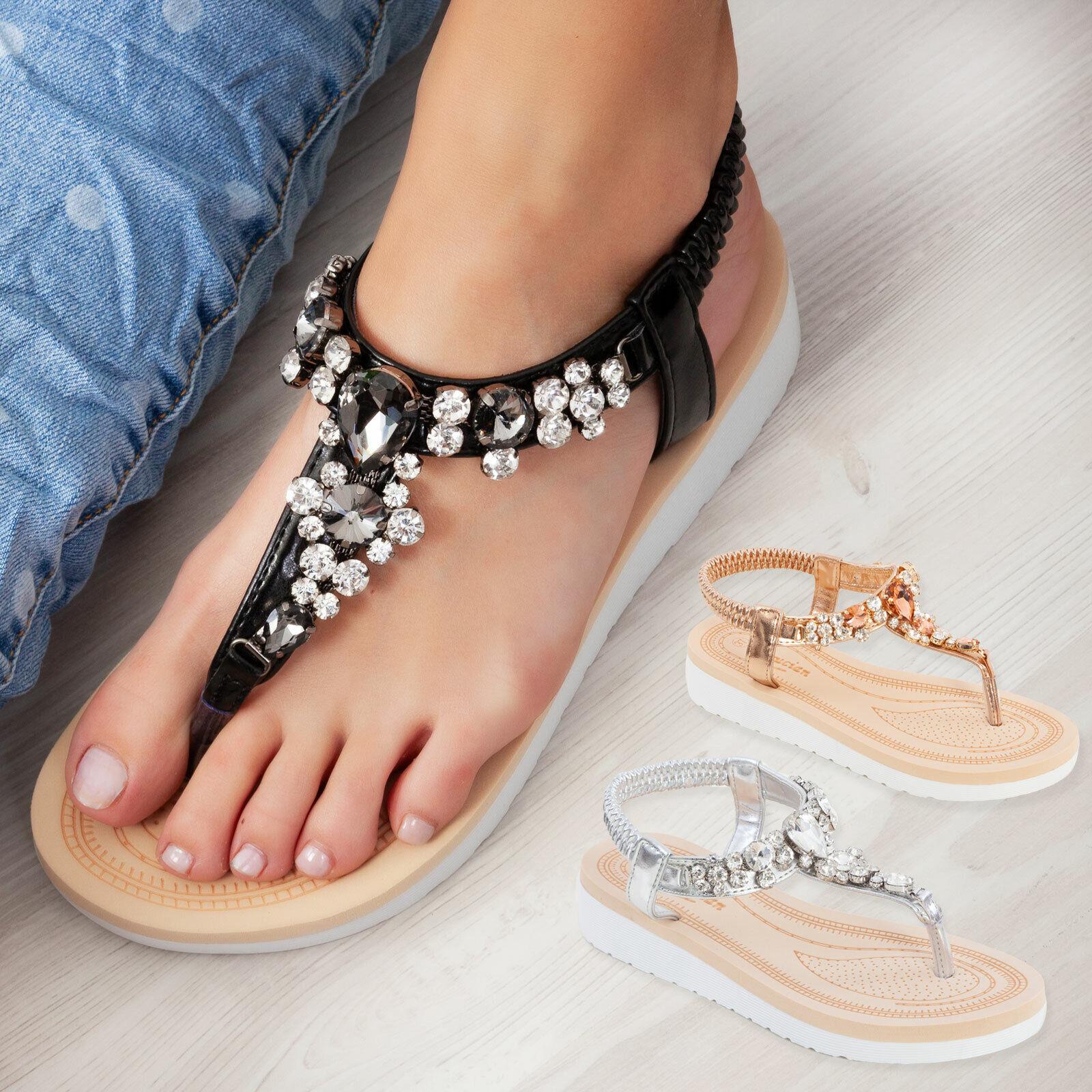 Sandales Femmes Chaussures Semelle Plate Montre Élastique Bijou Élégant Toocool