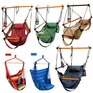 Outdoor-Indoor-Hammock-Hanging-Chair-Air-Deluxe-Sky-Swing-Chair-Capacity-250lbs