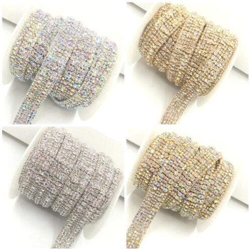 Crystal Diamante  Bridal Rhinestone trim Chain Banding Cake Decoration 1 Yard