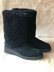 fcfef4c50f7 Details about UGG Australia Ariella Luxe Diamond Womens Tall Boot Size 8.5  Black 1015444