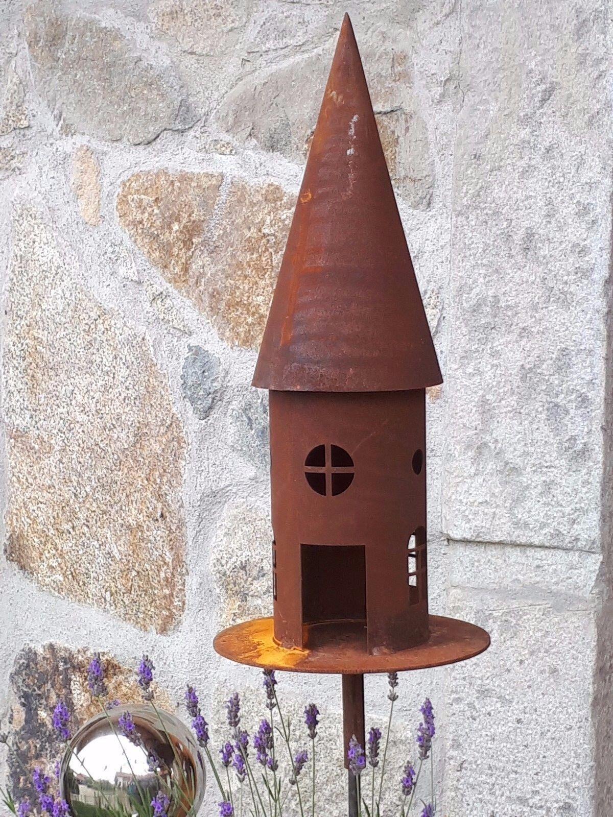 Edelrost Vogelhaus Dekoration Aufhänger Futterstelle Windlicht Futterstelle Deko | Beliebte Empfehlung  | Viele Sorten  | Geeignet für Farbe