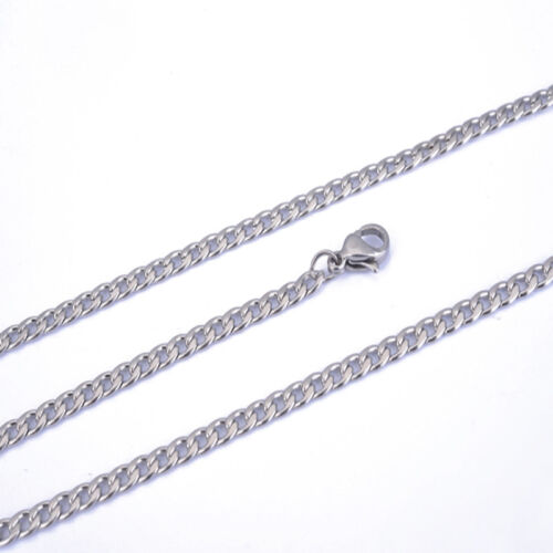 """18-36/""""3-12MM NK Heavy Cool Silver 316L Stainless Steel Men Chain Link Curb Neck"""