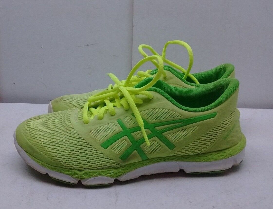 Asics 33-DFA2 Women Neon Green Mesh Athletic Laced Sneakers Running shoes 7.5M 39