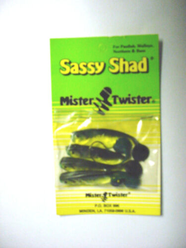 1 Each of 3 Packs of Mister Twister Sassy Shad Jig Combo/'s
