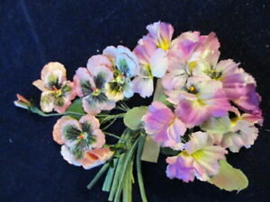 Vintage-Millinery-Flower-Collection-Pink-Shades-Pansy-w-Velvet-2-034-German-H3378