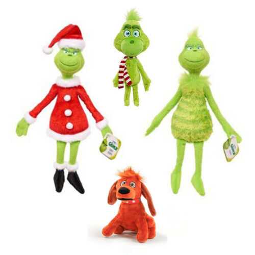 New Hot Rare Christmas Grinch Plush Doll Soft Toy Stuffed Teddy Kid Xmas Gifts
