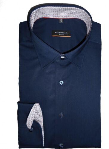 Eterna Camicia Slim Fit UNI Marine 8585//19 f15x extra lungo braccio 72 cm