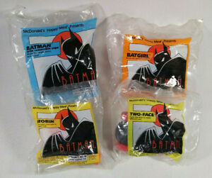 1993-McDonalds-Happy-Meal-4-Toys-Batman-Animated-Series-Batgirl-Robin-Two-Face