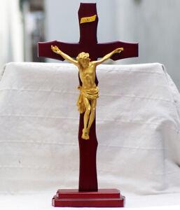 D44-Catholic-Christian-Cross-Holy-Religion-Jesus-Christ-Crucifix-Decoration-M