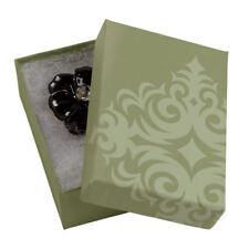 Jewelry Boxes 50 Sage Green 3 116 X 2 18 X 1 Elegant Cotton Filled 31