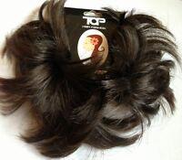 Hair Scrunchie for bun or ponytail Dark Brown hair Piece Bun scrunchie