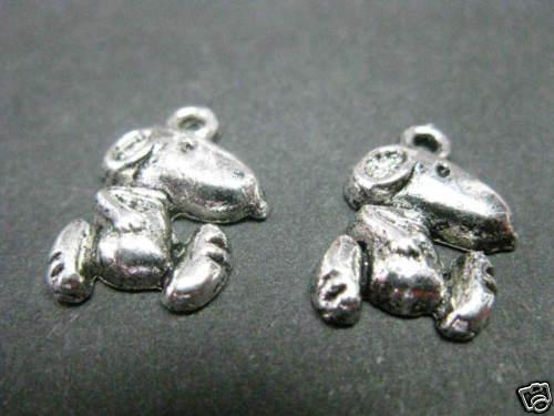 """2 métal remorque /""""chien/"""" 17mm perles bricolage 6320"""