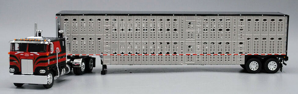 FIRST GEAR PETERBILT 352 DAY CAB WITH CATTLE TRAILER 60-0603 DCP