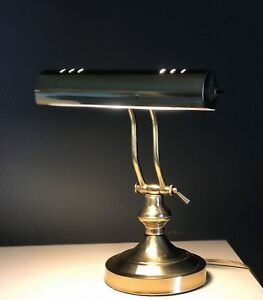 Vintage Brass Piano Student Lawyer Reading Desk Lamp