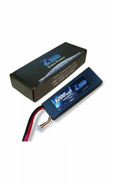 Zeee 5200mAh 7.4V 2S 50C Lipo Battery Hard Case with Deans T Plug for RC Truck