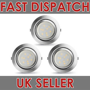 3X-LAMPAOUS-LED-Recessed-Spotlight-Kitchen-Lamp-Dimmable-Warm-White-3000K-12V