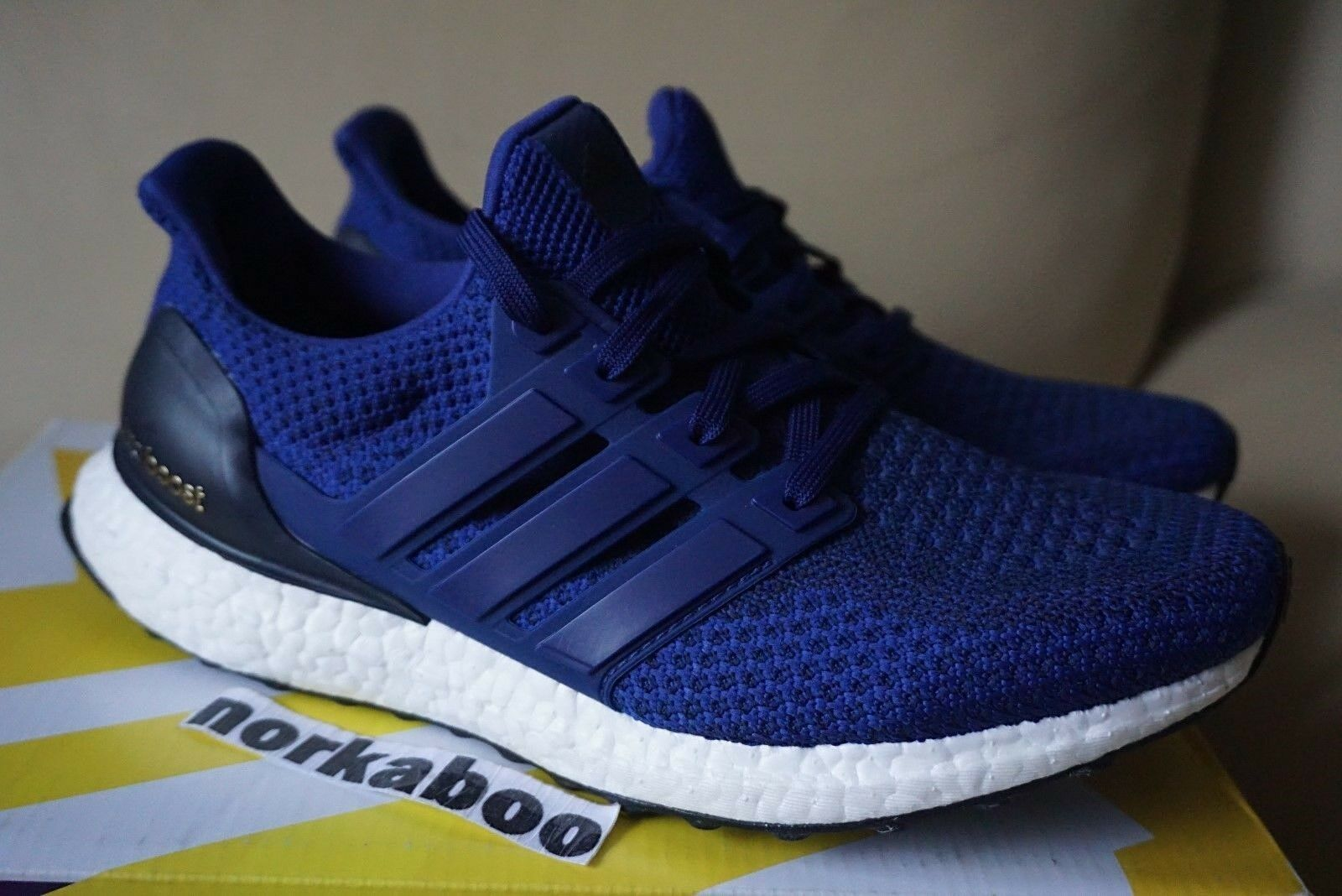 Adidas Women's Ultra Boost Blue White Black AQ5933 size wmns 5.5 6 7 9 New shoes for men and women, limited time discount