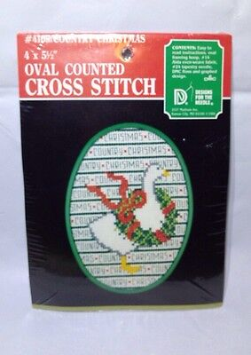 DESIGNS FOR THE NEEDLE Country Christmas 4105 Cross Stitch Kit Goose Wreath