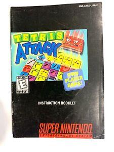 Tetris-Attack-SNES-Super-Nintendo-Instruction-Manual-Only-NO-GAME
