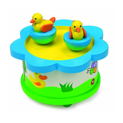 "Musical Toys Legler 7489 Music Box "" Duck Dance "" Music Box With Ducks Wood New #"
