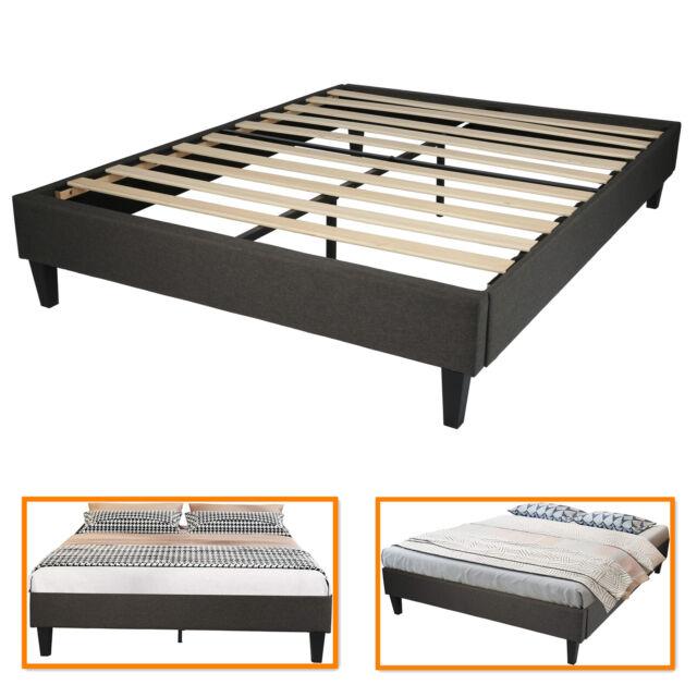 King Size Metal Bed Frame Mattress, Wood Slat Bed Frame Queen