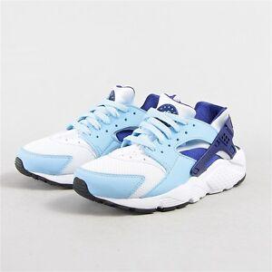 39600702cb5f Nike YOUTH Huarache Run GS White Deep Royal Blue SIZE 5.5Y FITS ...