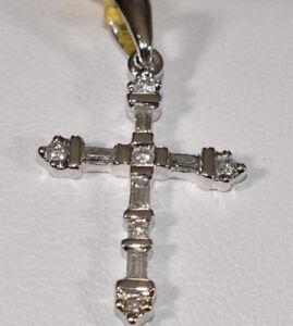 Baguette-Diamonds-amp-14k-White-Gold-Cross-Pendant