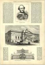 1877 Walker Fine Art Gallery Liverpool The Late Dr Conneau Engraving