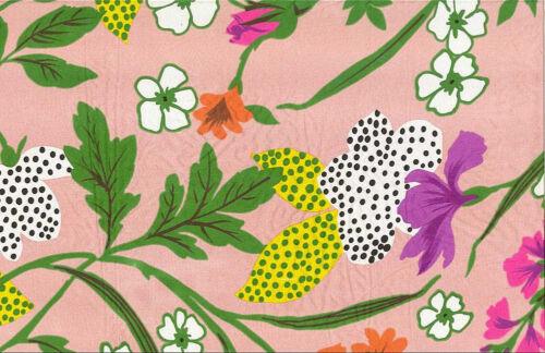 Tim Tam Silk Printed Pink Muti Color Floral Habotai Designer Fabric by the yard