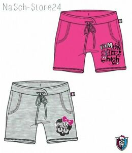 Trendmarkierung Monster High Mädchen Shorts Pink Grau Gr. 128-164 Lizenzware Neu! 88751