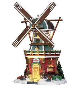 RARE 2012 Lemax Stony Brook Windmill Animated Lighted Christmas Village House