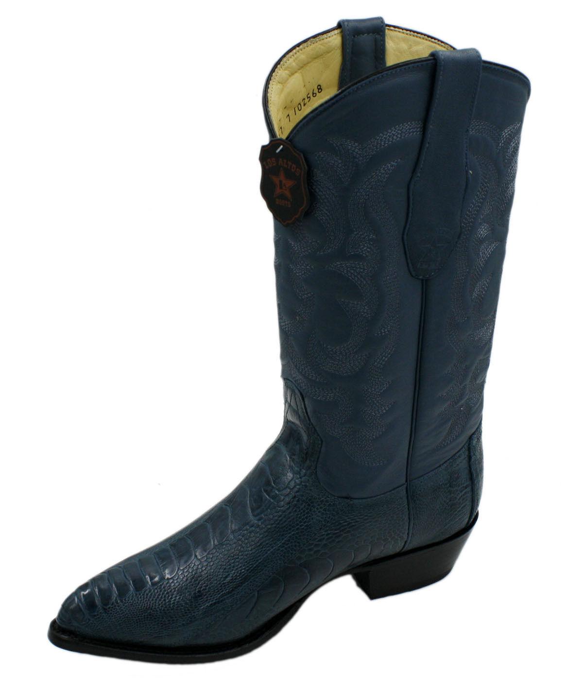 Hombre cuero genuino botas de vaquero occidental ostrichleg J Toe estilo LA 2950507