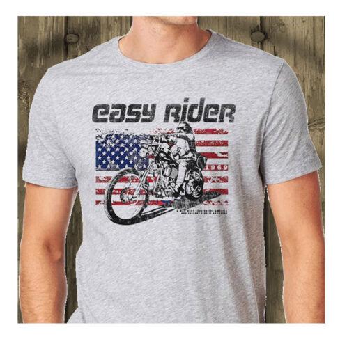 Easy Rider Classic Biker Movie Vintage T-Shirt Biker Motorcycle Grey T-Shirt
