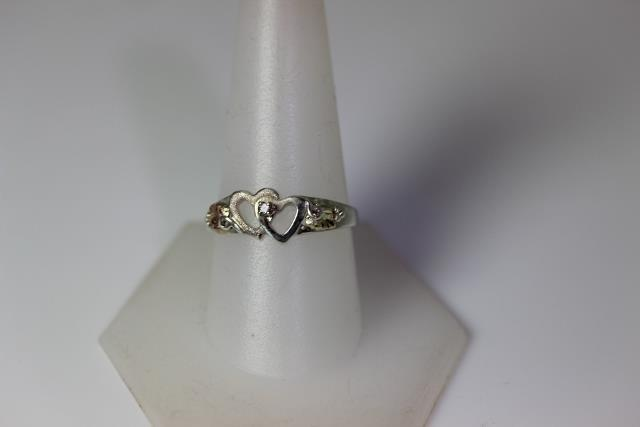 Sterling Silver & 12K Black Hills Gold Landstroms Heart Ring Size 10 – 10830