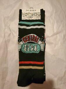 Friends TV Series Socks 2 Pair Size 6-12 Central Perk Logo Crew Socks A4