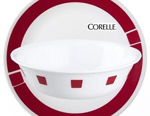 1 CORELLE Livingware URBAN RED 18-oz SOUP CEREAL BOWL *Contemporary ...