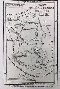 Deux Sèvres 1791 Thouars Melle Mauzé Moncontour Ruffec Niort Châtillon Bréssuire