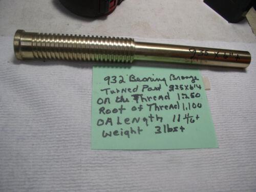 "935/"" - 1.100 X 11 11//16/"" 932 BRONZE 1/""+ or 15//16 DIA BEARING BRONZE 1 PC."